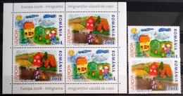 EUROPA        ANNEE 2006        ROUMANIE          N° 5093/5094 + BF 307          NEUF** - 2006