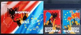 EUROPA        ANNEE 2006        ALBANIE            N° 2832/2833 + BF 125          NEUF** - 2006