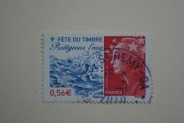 FRANCE 2010   YTN°4439   FETE DU TIMBRE.PROTEGEONS L'EAU     Cachet  ROND    ( A Voyagé) - France