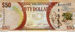 Guyana (BOG) 50 Dollars 2016 UNC Cat No. P-41a / GY119a - Guyana