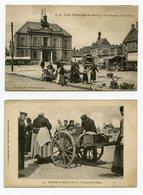 Deux Cartes Postale Etaples Sur Mer Pas De Calais Boulogne Sur Mer France French Postcard 1900s - Etaples