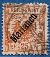 Deutsch Ämter Marianen 1899 25 Pf, ERST TAG Cancel Saipan, 18/11 98 On 1st Emission 2005.0341 German Offices, Defects - Colonie: Mariannes