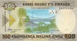 Rwanda (BNR) 500 Francs 2019 UNC Cat No. P-42a / RW141a - Rwanda