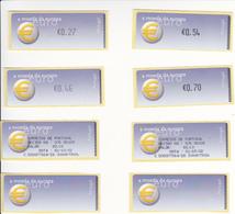 Portugal Etiquetas  Com Goma Auto Adesiva -euro 2002  (maiores) - Annullamenti Meccanici (pubblicitari)