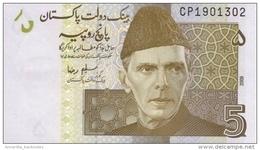 Pakistan (SBP) 5 Rupees 2009 UNC Cat No. P-53b / PK230b - Pakistán