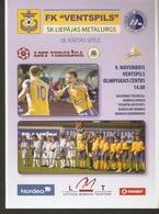 Sports Football Soccer Ads Program FK Ventspils - Liepajas Metalurgs 2008 - Programmes