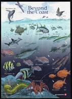 2011 New Zealand Beyond The Coast: Petrel, Humpback Whale, Hammerhead Shark, Fish, King Crab, Squids MS (Self Adhesive) - Marine Life