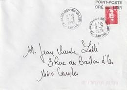 Point-Poste De Cré Sur Loir (Sarthe) Dépendant Du Bureau De Bazouges-sur-le-Loir (Sarhe) Superbe Et Rare. - Marcophilie (Lettres)