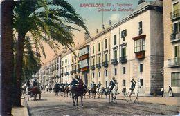 Cpa BARCELONA - Capitania General De Cataluna - Défilé Militaire - Desfile Militar - Barcelona