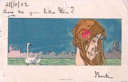 Cpa KIRCHNER - Femme Et Cygne X - Voir Description - Kirchner, Raphael