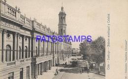 133454 CHILE SANTIAGO PALACIO ARZOBISPAL & CATEDRAL BREAK POSTAL POSTCARD - Chile