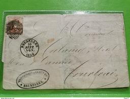 Lettre, Manufactures De Glaces, Bruxelles 1858 - 1849-1865 Medallions (Other)