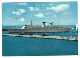 6166 - GENOVA T/N TRANSATLANTICO NAVE BOAT SHIP MICHELANGELO 1966 - Genova