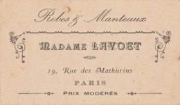M10- 75) PARIS (XIX°) ROBES & MANTEAUX - MADAME LAVOET - 19 ,  RUE MATHURINS - Paris (19)