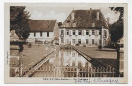 (RECTO / VERSO) GEZIER EN 1950 - LE CHATEAU - FORMAT CPA VOYAGEE - Francia