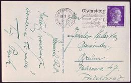 Germany - 1942 - Winter Olympic Games 1936 - Postcard - Winter 1936: Garmisch-Partenkirchen