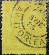 FRANCE Y&T N°92a Sage 25c. Jaune Sur Bistre-jaune. Oblitéré CàD. AV. D'Orléans - 1876-1898 Sage (Type II)