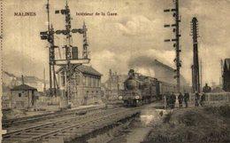 MALINES INTERIEUR DE LA GARE  PONT DE FER TRAIN TREN TREIN RAILWAY    MECHELEN MALINES ANTWERPEN ANVERS - Malines