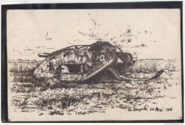 51108 . LE POMPELLE . 30 MAI 1918  . CHAR ALLEMAND - France