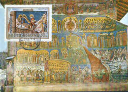 Romania - Maximum Postcard,maxicard 1979 - Voronet Church.Doomsday. West Facade.Detail.Paradise - Religie