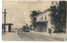 43 LA GARE DU BAS MONISTROL Le Train à Vapeur 1925 CPA 2 SCANS - Monistrol Sur Loire