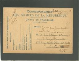 Correspondance Des Armées De La République Carte En Franchise Dos Illustré Alsacienne Souscrivez Tous à L'emprunt .... - Marcophilie (Lettres)