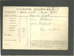 Carte Postale En Franchise En 10 1914 - Marcophilie (Lettres)