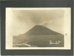 Stromboli Carte Photo Vu De La Mer écrite En Juillet 1918 - Unclassified