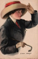 Illustration: Portrait F. Earl Christy - I'm Ready - Carte Paul Heckscher N° 1025-3 Non Circulée - Women