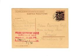 Ganzsache GG P 4: 10 - 1939: 7.6.40 Miechow/Kielce An Rotes Kreuz Krakau - Besetzungen 1938-45