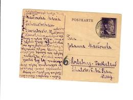 Ganzsache GG P 13: Tschenstochau 9.10.44 Ins Wartheland - Besetzungen 1938-45