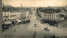 Malines - Place De La Station Avec La Rue Conscience TRAM  MECHELEN MALINES ANTWERPEN ANVERS - Malines