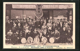 CPA Puteaux, Fanfare De Trompettes, Republique Libre De Puteaux - Puteaux