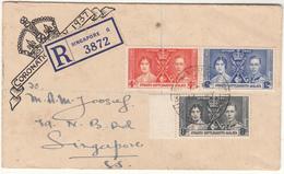 Singapore / 1937 Coronation / Registration Lables / Straits Settlements - Singapore (1959-...)