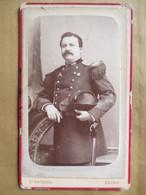 CDV De Rothier à REIMS - Portrait De GENDARME Gradé - Voir Epaulettes Et Bicorne -  BE - Guerre, Militaire
