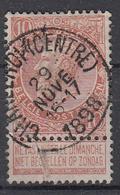 BELGIË - OPB - 1893/1900 - Nr 57 - T1L  (CHARLEROI (CENTRE)) + COBA 2 € - 1893-1900 Fine Barbe