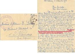 GUERRE 14-18 163 RI 304e BATTERIE Mt VALÉRIEN 4-11-1918 Des Officiers à Versailles Ont Parié Que Tout Serait Fini Le 10 - WW I
