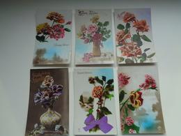 Lot De 60 Cartes Postales De Fantaisie  Fleurs Fleur   Lot Van 60 Postkaarten  Bloemen Bloem - 5 - 99 Postcards
