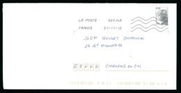 Enveloppe - Oblitération Remarquable Palindrome 21-11-12 - Marianne Beaujard Ecopli 20 G - YT 4565 - Otros