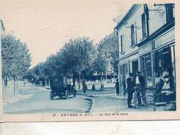 Auvers -   La  Rue  De  La  Gare. - Auvers Sur Oise