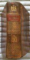 C1  CODE NAPOLEON - CINQ CODES EMPIRE FRANCAIS 1812 Relie CUIR D EPOQUE - Français