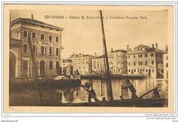 CHIOGGIA:  CANAL  S. DOMENICO  E  CANTIERE  NAVALE  POLI  -  FP - Chioggia