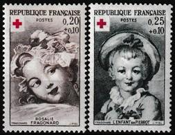 Série De 2 T.-P. Neufs** - Croix-Rouge Rosalie Fragonard L'Enfant En Pierrot - N° 1366-1367 (Yvert) - France 1962 - France