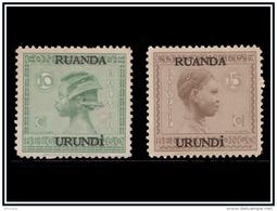 Ruanda 0079/80* Vloors Surcharge  H - - 1924-44: Nuovi