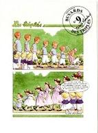Collection Des Buvards Des Triplés Nicole Lambert N°9 306CP04 - Vloeipapier