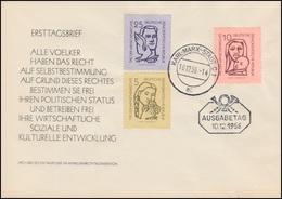 548-550 Tag Der Menschenrechte 1956 Schmuck-FDC ET-O KARL-MARX-STADT BPP-geprüft - DDR