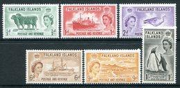 Falkland Islands 1955-57 QEII Pictorials Set MNH (SG 187-192) - Falkland Islands