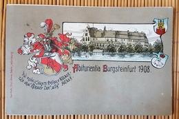 Studentica Prägedruckkarte ,  Abiturientia Burgsteinfurt, Steinfurt, Ungelaufen - Steinfurt