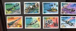 Rwanda 1977-Apollo Soyouz-Hélicoptère Surcharge Von BRAUN*YT 796/803***MNH-Dentelé - Africa