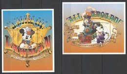 G791 GUYANA CARTOONS WALT DISNEY MICKEY MOUSE WILD WEST RAILROAD LAWMAN 2BL MNH - Disney